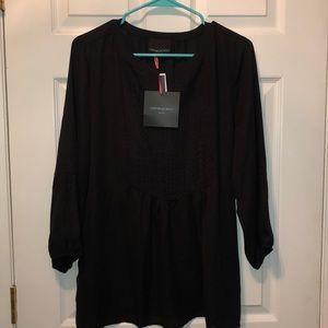 NWT Cynthia Rowley Black Blouse